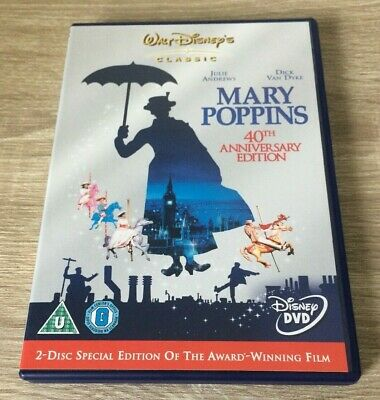 DISNEY MARY POPPINS (DVD, 2005, 2-Disc Set, Box Set) KIDS GIRLS BOYS FAMILY FILM