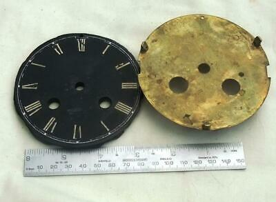 Antique Slate Black Clock Dial and back plate