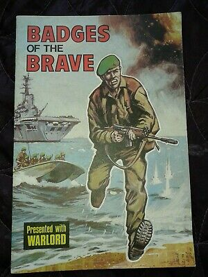 BADGES OF THE BRAVE presented with WARLORD UK comic 1975 incomplete
