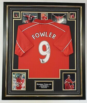 Luxury Robbie Fowler Signed Shirt Jersey Autographed Display AFTAL DEALER COA