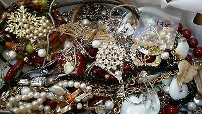 #12 Vintage To Now Estate Find Jewelry Lot Junk Drawer Unsearched Untested Wear