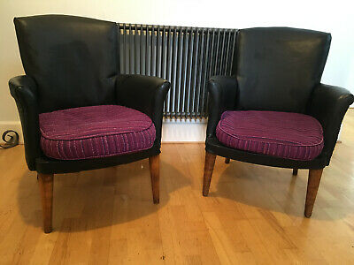A pair of vintage armchairs