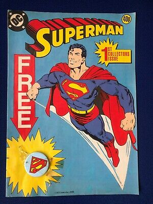 Superman Comic  #1 Collectors Issue 1988 With Free Gift Badge
