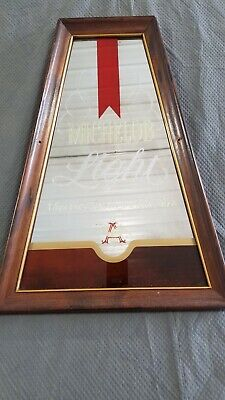 1970's Framed Michelob Light Beer Sign Mirror Vintage Bar Anheuser-Busch Brewery