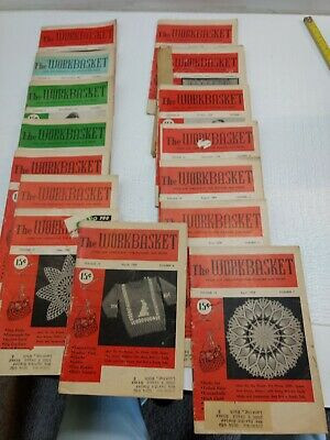 "15 Vintage Lot ""The Workbasket And Home Arts Magazine"" ~ 1951, 1954"