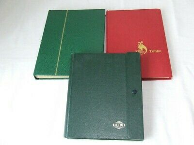 3x SMALL STAMP STOCKBOOKS, 16, 10 & 6 WHITE PAGES, VGC