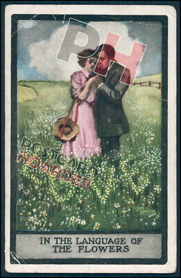 In The Language Of Flowers - Love - Picture Postcard <09/48