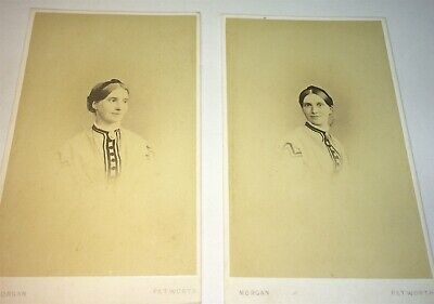 Antique Victorian Fashion Beautiful English Woman! Different Poses CDV Photo Lot