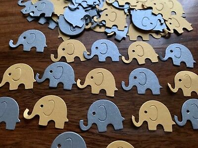 HALF PRICE Gold Silver Pearlised elephant Table Confetti CHRISTENING BABY Shower