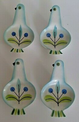 Holt Howard Starry Eyes Bird Spoon Rest 1960 MCM Mid Century Modern Lot of 4