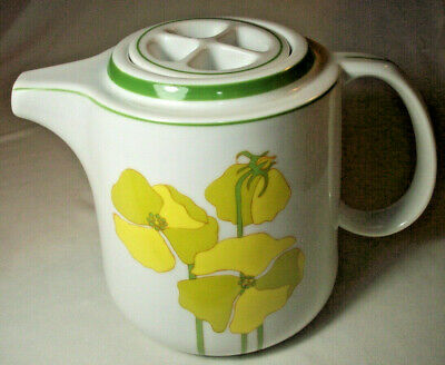 Denby Fine China Portugal: QUADRILLE (1974): 4-Cup Teapot: EXC: NR