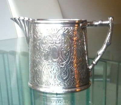 Victorian Aesthetic Movement Silver Plated Small Jug-Ornate ^