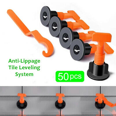 50 Pcs/Pack Reusable Anti-Lippage Tile Leveling System Positioning T-lock Tool