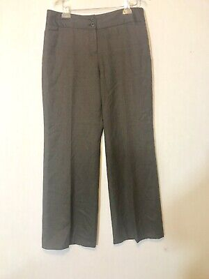 Womens ANN TAYLOR LOFT Julie Brown Lined Dress Pants SIZE 12 Wool Blend