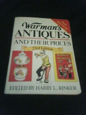 Warman's Antiques And Their Prices  23rd Edition.