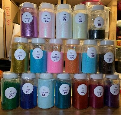 Lot 18 Ben Craft Glitters w 1 Lb Shakers Crafting Tumblers Cups Card Supplies