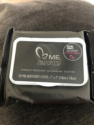 ME Makeover Essentials Makeup Remover Cleansing Cloths New 20 Piece