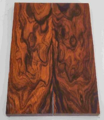 Desert Ironwood bookmatched figured knife scales blanks 5.2 x 1.7 x .37 #170