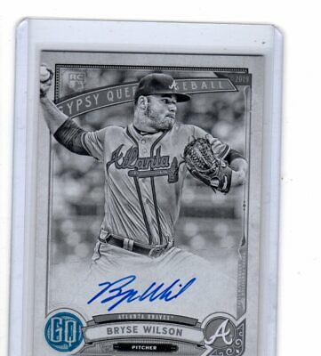 Bryse Wilson 2019 Topps Gypsy Queen Rookie Black + White  Auto #41/50  !