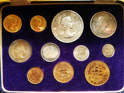 "1955 South Africa Gold + Silver ""Long"" 11-Coin Proof Set (Mintage: 600) Rare!"