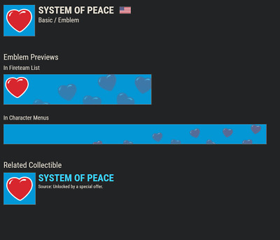 Destiny 2 System of Peace Emblem!!!AVAILABLE NOW!!! INSTANT DELIVERY!!!