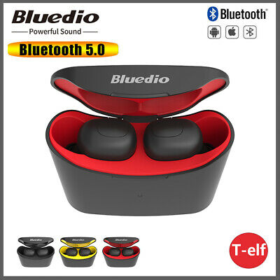 Bluedio T-elf Air pod Bluetooth V5.0 Sports Wireless Earphones with charging box