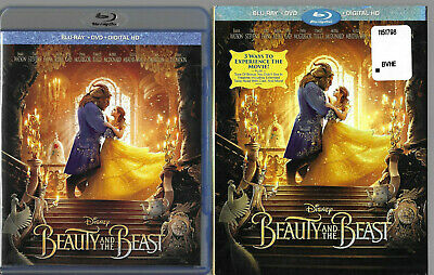 Beauty and the Beast (Blu-ray/DVD) 2017 live-action Disney XLNT COND NO DIGITAL