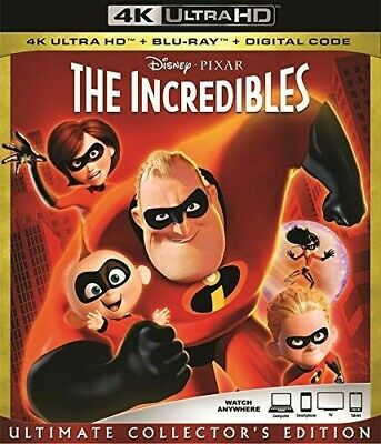 Disney Pixar The Incredibles 4K Ultra Hd & Bluray & Digital Set Brand New