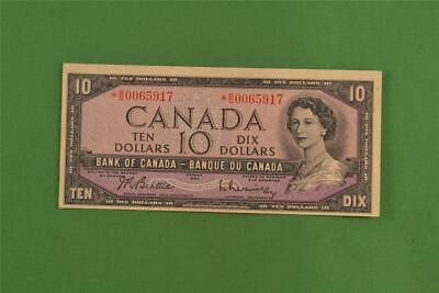 1954 Bank of Canada 10 Dollar Modified Portrait Replacement Note *BD 0065917
