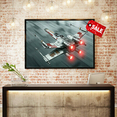 Home Wall Art HD Print Decoration Canvas Oil Painting Movie Star Wars Ship 16x24