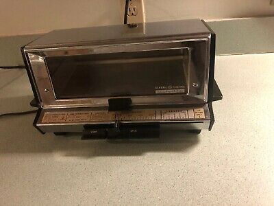 Vintage General Electric Deluxe Toast R Oven A2t93 Toaster Oven Chrome Ge Tested