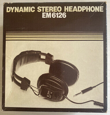 PHILIPS EM-6126 Vintage Dynamic Stereo Headphone. Boxed. In excellent condition
