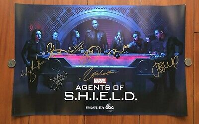SDCC 2019 EXCLUSIVE Marvel Agents of Shield Cast Signed Poster - BENNET, WARD