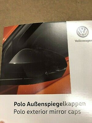 VW POLO Mirror Caps - High Gloss Black 2017-   (2G0072530)