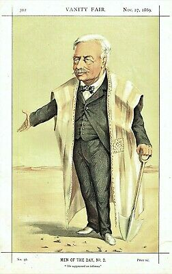 Ferdinand de Lessups - Builder of Suez Canal -By J.J.Tissot for Vanity Fair 1869