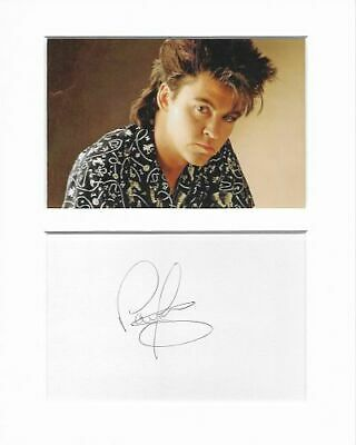 Paul Young music authentic hand signed autograph signature and photo AFTAL COA