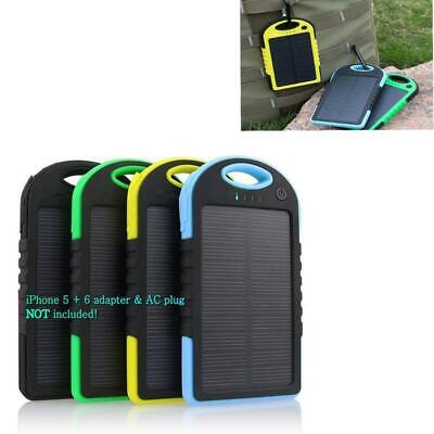 5000mah LED Dual USB Waterproof Solar Power Bank Battery Charger For Phone New.