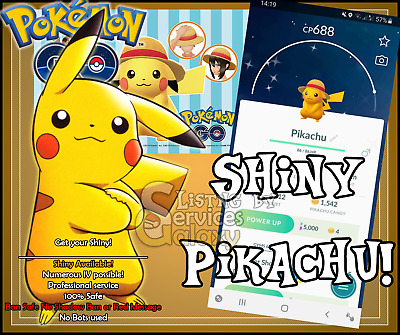 Pokemon Go Shiny Strawhat Pikachu! Limited time only Get yours now!