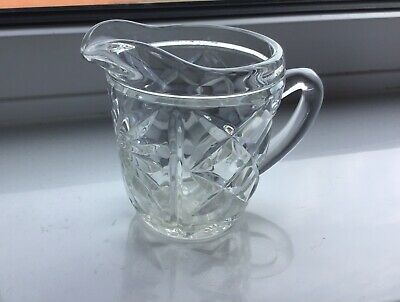 Lovely vintage, glass, cream or milk jug. 1950's approx. Excellent condition