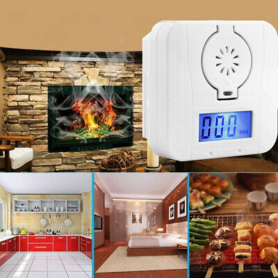 LCD-CO-Carbon Monoxide Detector Poisoning Gas Warning Sensor Monitor Alarm UK