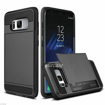 Samsung Galaxy S8 /S8 Plus Wallet Shockproof Case Hybrid Card Slide Phone Cover