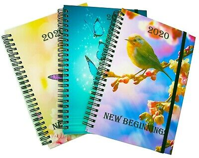 A5 2020 Diary A5 Week to View Synthetic leather Notebook Spiral Wire Bound