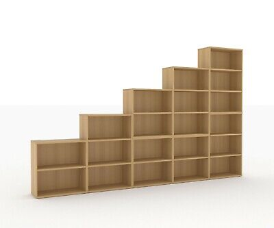 Small Bookcase 800x350x845mm - Maple, Oak or Walnut