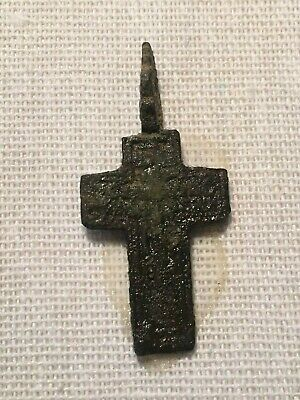 Ancient Bronze cross pendant