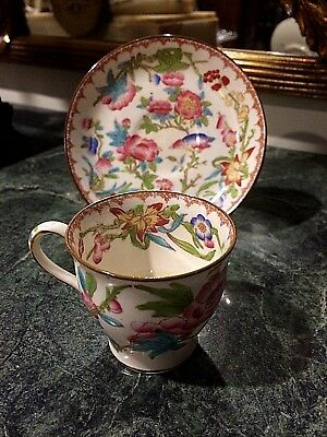 A Beautiful Antique Minton for A. T. Wiley Montreal Floral Design Demitasse Cup