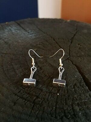 Marvel Inspired Disney Thor Thors Hammer Earrings Avengers End Game Thanos Loki