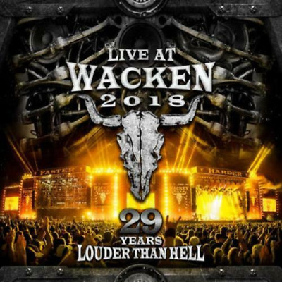 Various - Live At Wacken 2018: 29 Years Louder Than 2CD/DVD Released 26/07/2019