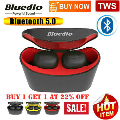 Bluedio T-elf Air pod Bluetooth 5.0 Sports Wireless Earphones with charging box~