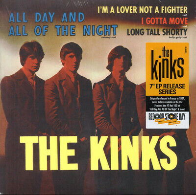 """The Kinks - All Day and All of the Night - 7"""" Single Vinyl RSD Release"""