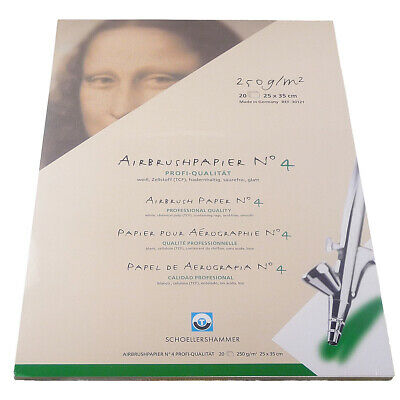 SCHOELLERSHAMMER - AIRBRUSH PAPER No4 - 250 x 350mm (20 SHEETS)
